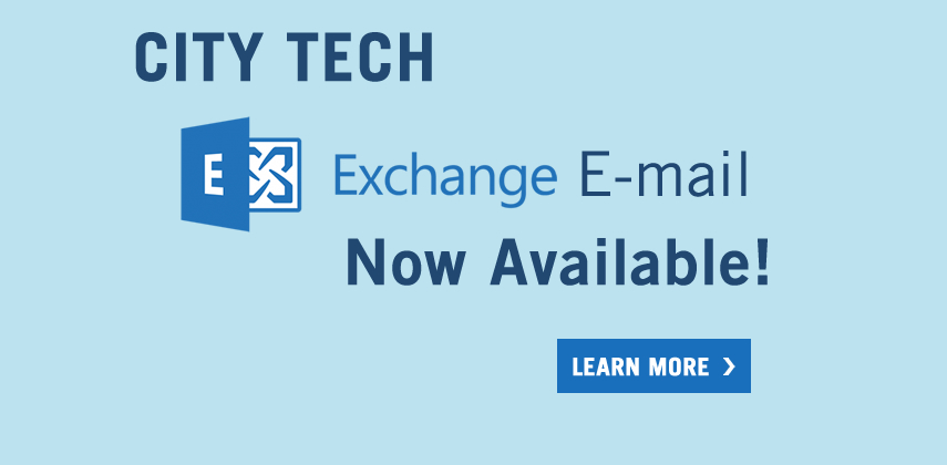City Tech Exchange Email now available